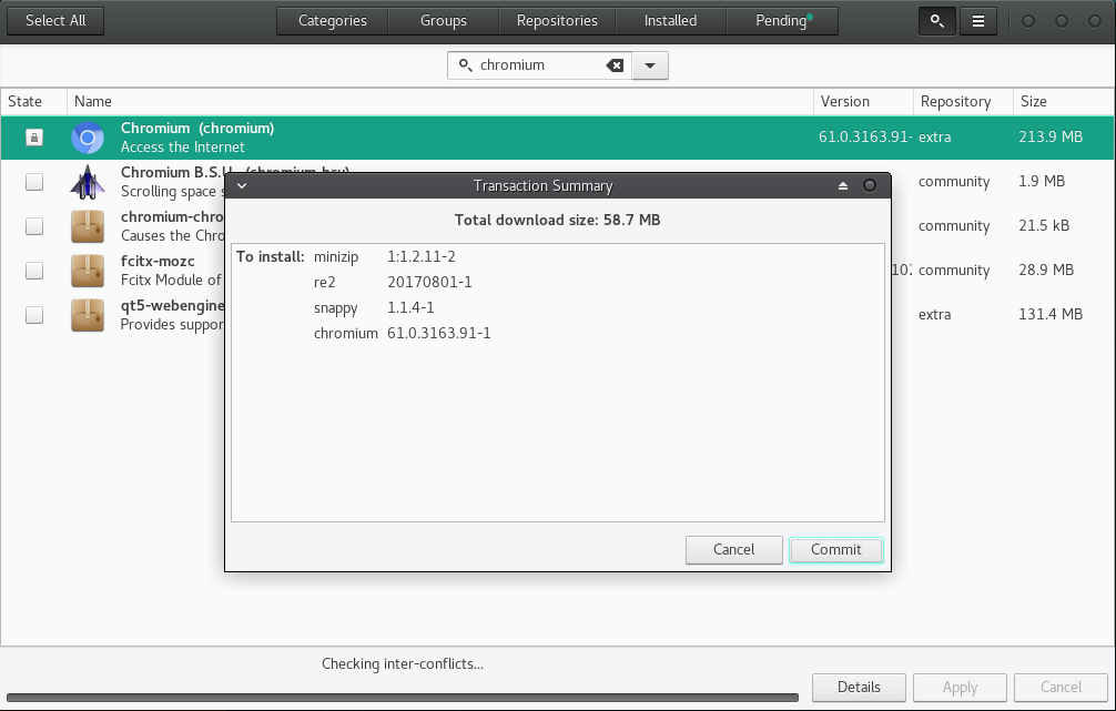 images/welcome-to-manjaro/pamac/pamac-summary.png