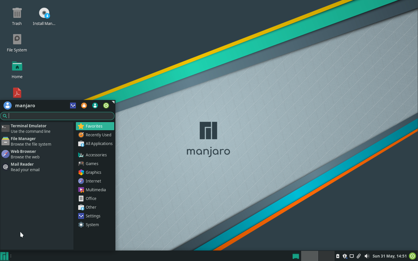 images/welcome-to-manjaro/app-menu.png
