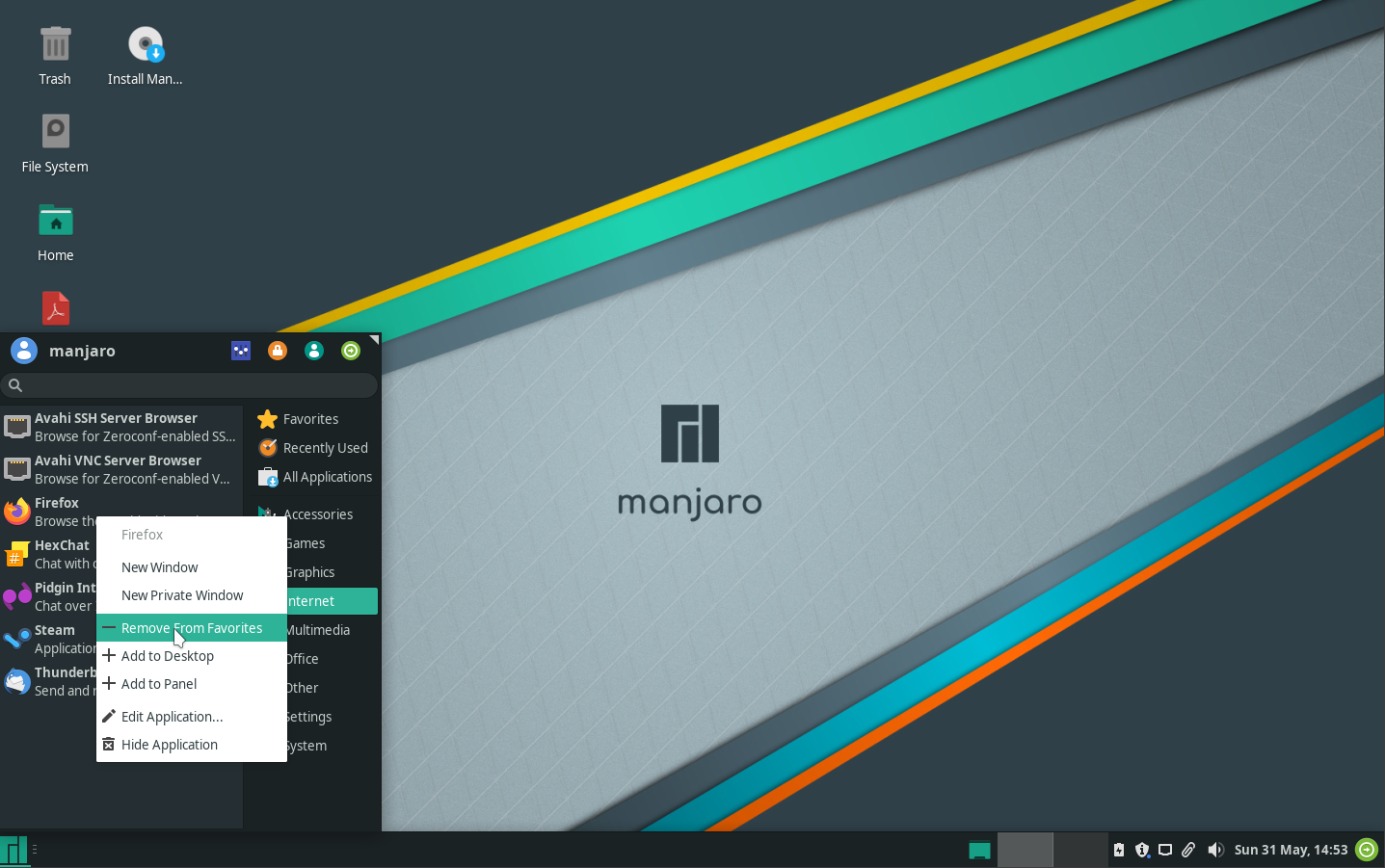 images/welcome-to-manjaro/remove-favourites.png
